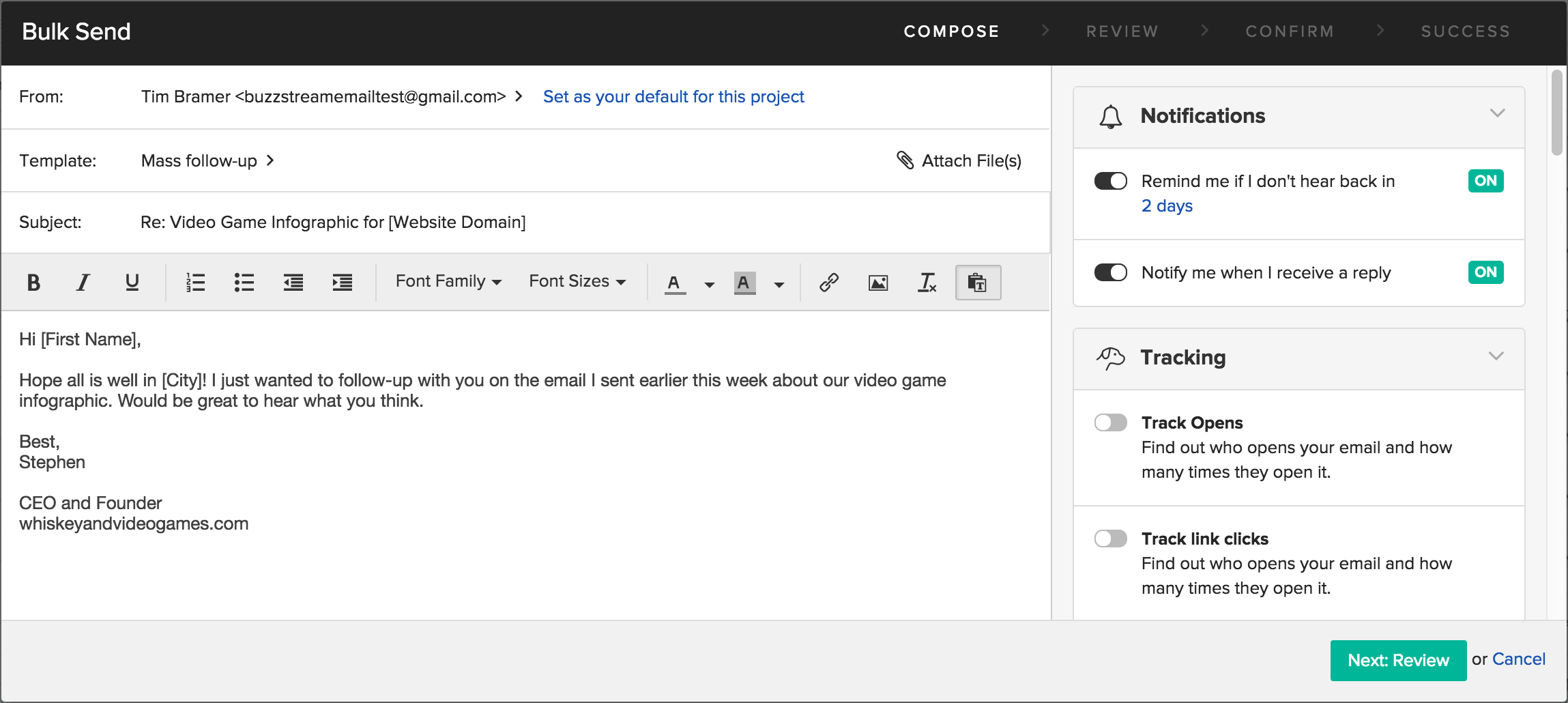 You Can Now Send Emails In Bulk Buzzstream