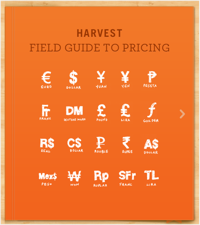 harvest field guide to pricing